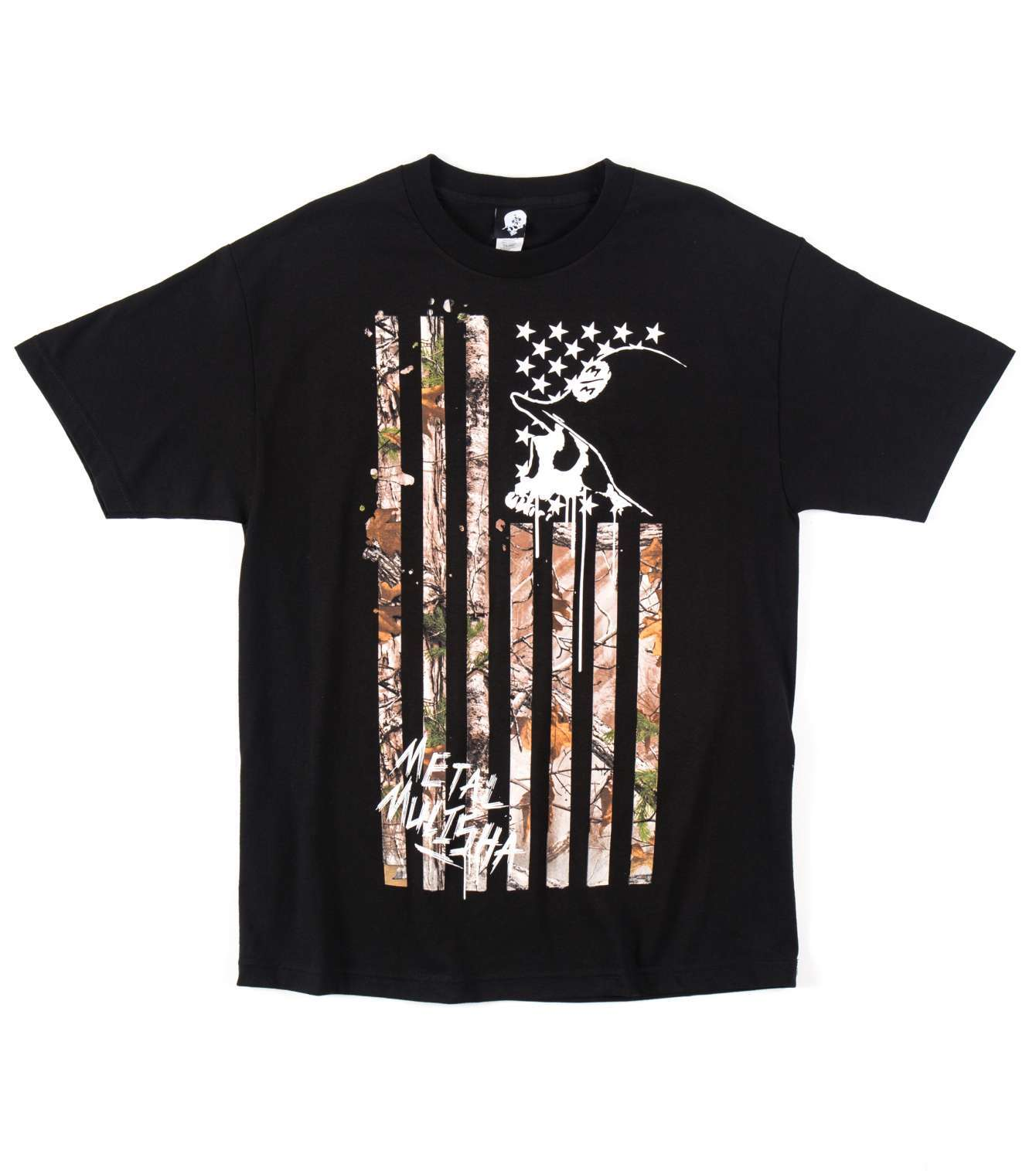 METAL MULISHA REALTREE LOST FLAG TEE BLK/černé