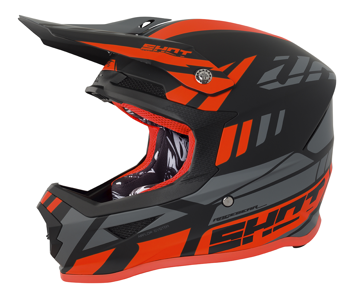 SHOT RACE GEAR 2018  HELMA FURIOUS RIOT - NEON ORANGE MATT