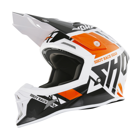 SHOT RACE GEAR 2018 HELMA STRIKER  RACEWAY ORANGE BRILLANT