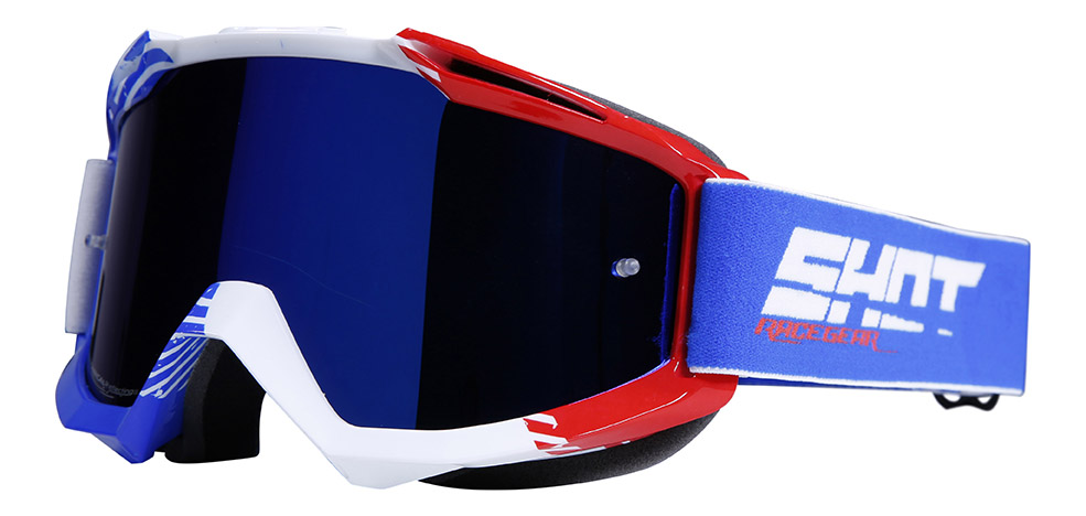 SHOT RACE GEAR 2019 BRÝLE IRIS   FLAG-BLUE/RED