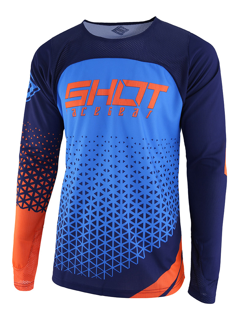SHOT RACE GEAR 2019 AEROLITE DELTA DRES BLUE/NEON ORANGE