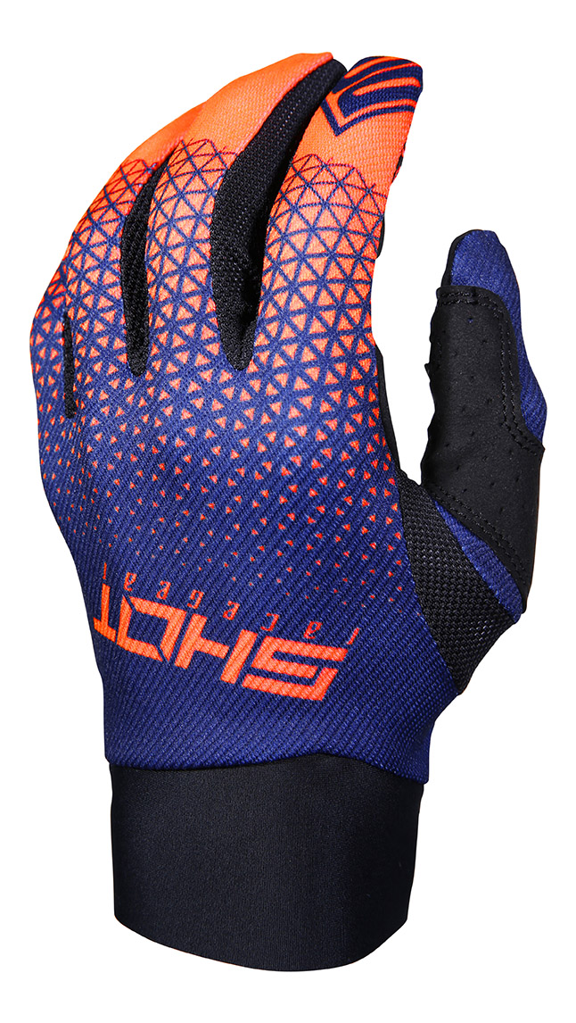 SHOT RACE GEAR 2019 AEROLITE DELTA  RUKAVICE BLUE/NEON ORANGE