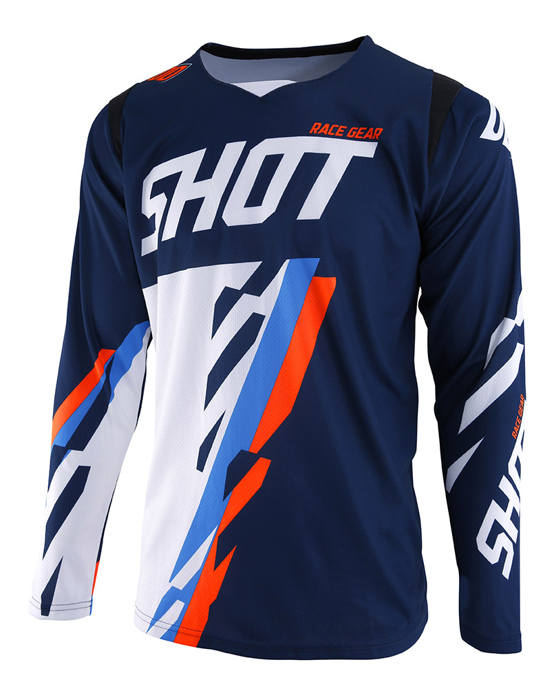 SHOT RACE GEAR 2019 CONTACT SCORE DRES BLUE/ORG NEON