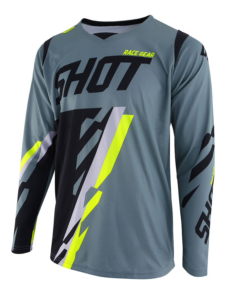 SHOT RACE GEAR 2019 CONTACT SCORE DRES KAKI /NEON YELLOW