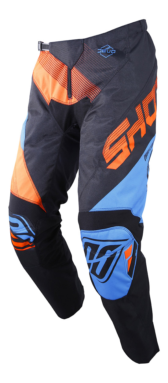 SHOT RACE GEAR 2019 DEVO ULTIMATE KALHOTY BLUE/NEON ORANGE