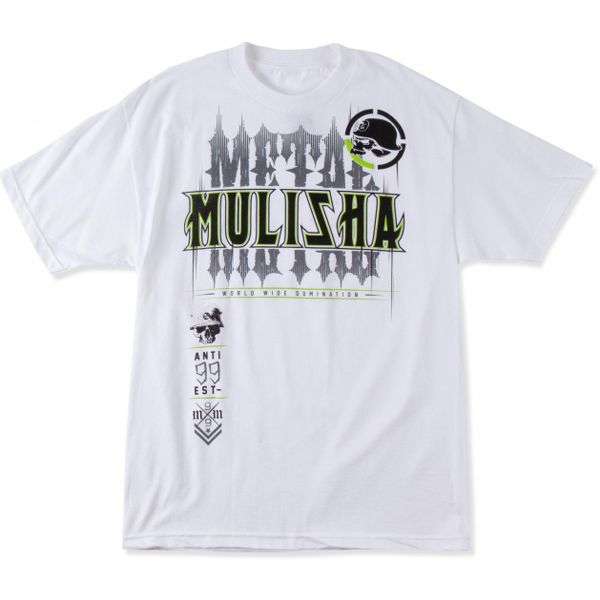 METAL MULISHA SELF BRANDED TRIČKO - WHT
