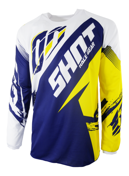 SHOT RACE GEAR 2017 DRES CONTACT FAST MODR/ŽLUTÁ