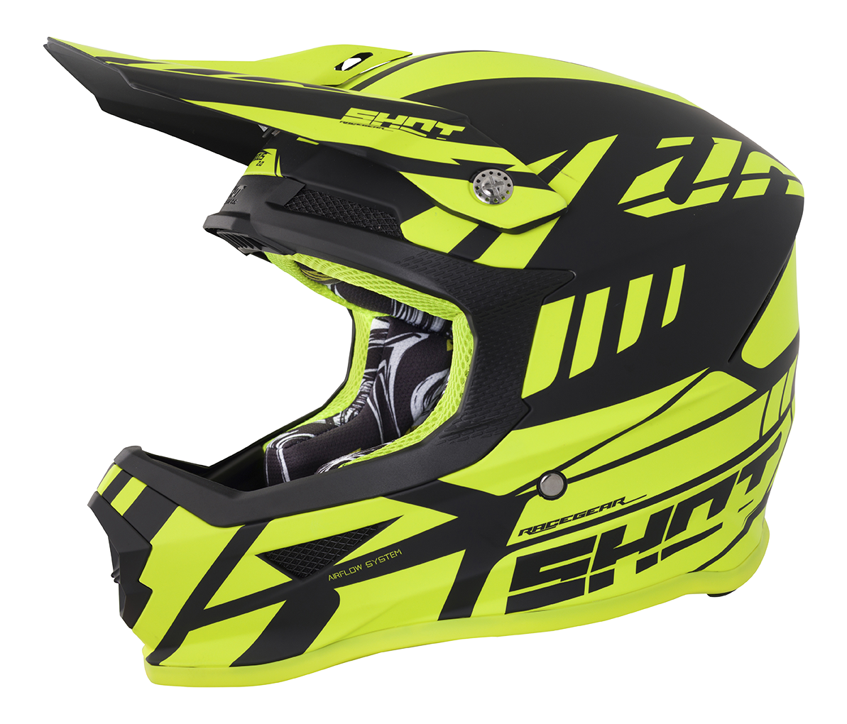 SHOT RACE GEAR 2018  HELMA FURIOUS RIOT  NEON YELLOW MATT