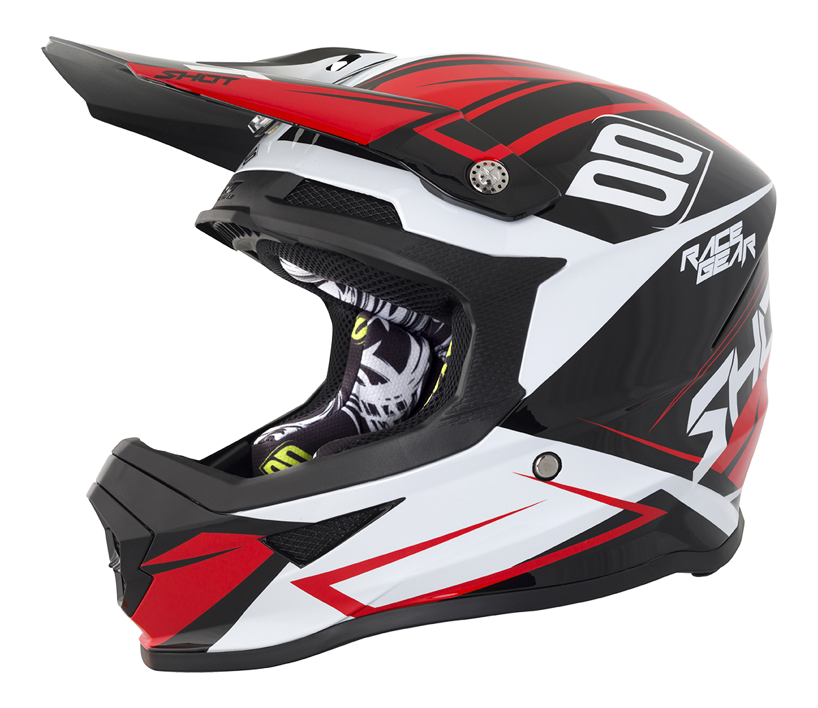SHOT RACE GEAR 2018  HELMA   FURIOUS ALERT - BLACK RED