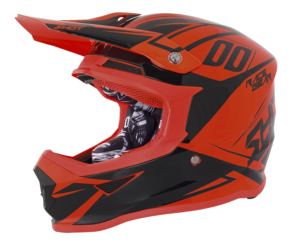 SHOT RACE GEAR 2018  HELMA III FURIOUS ALERT NEON ORANGE BRILLANT