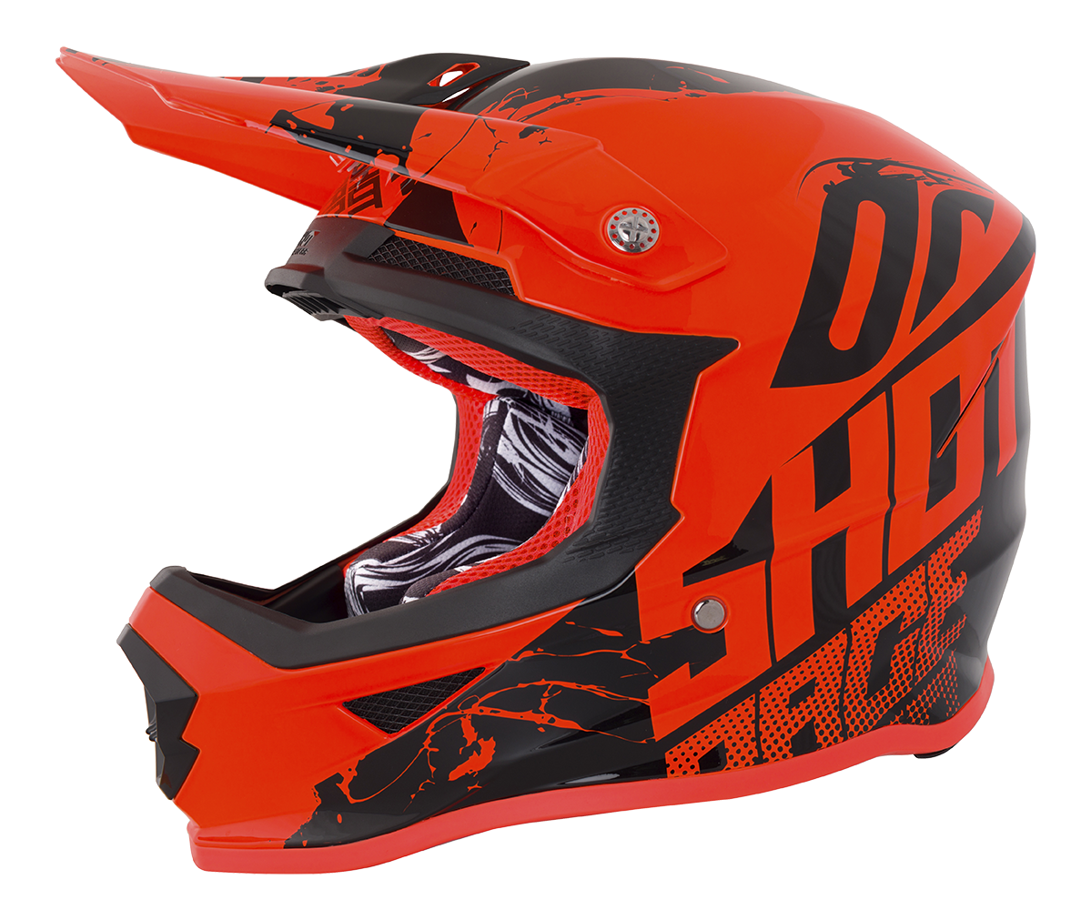 SHOT RACE GEAR 2018  HELMA III FURIOUS VENOM NEON ORANGE BRILLANT