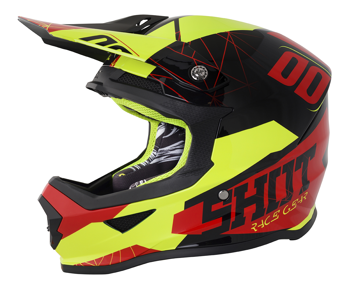 SHOT RACE GEAR 2018  HELMA III FURIOUS SPECTRE RED / NEON YELLOW BRILLANT