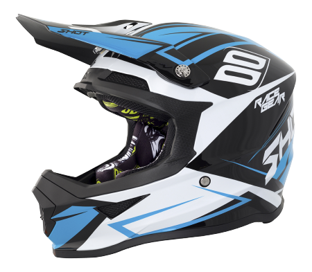 SHOT RACE GEAR 2018  HELMA FURIOUS ALERT BLACK/BLUE BRILLANT