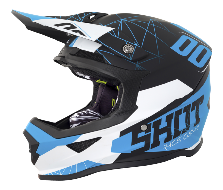 SHOT RACE GEAR 2018  HELMA FURIOUS SPECTRE BLACK/BLUE MAT