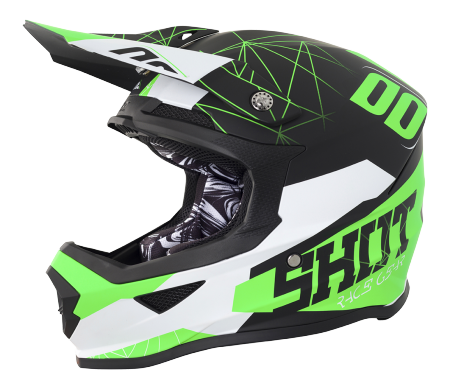 SHOT RACE GEAR 2018  HELMA FURIOUS SPECTRE BLACK/GREEN MAT