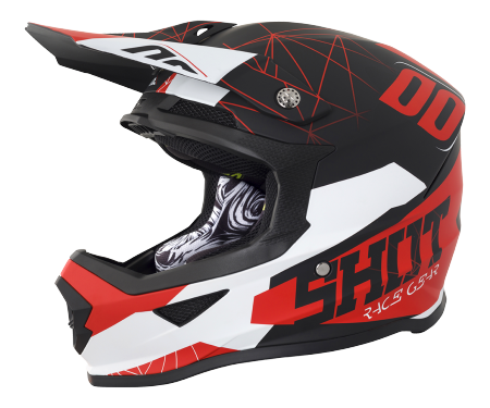 SHOT RACE GEAR 2018  HELMA FURIOUS SPECTRE BLACK/RED MAT
