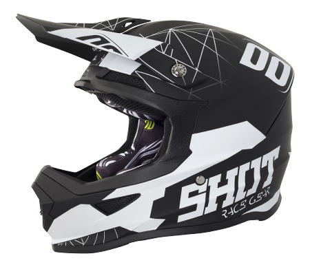 SHOT RACE GEAR 2018  HELMA FURIOUS SPECTRE BLACK/WHITE MAT