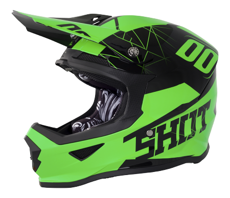 SHOT RACE GEAR 2018  HELMA FURIOUS SPECTRE NEON GREEN BRILLANT