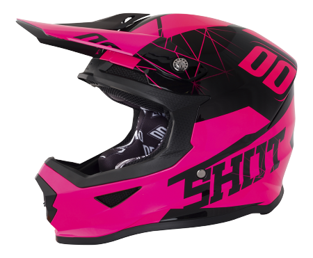 SHOT RACE GEAR 2018  HELMA FURIOUS SPECTRE NEON PINK BRILLANT