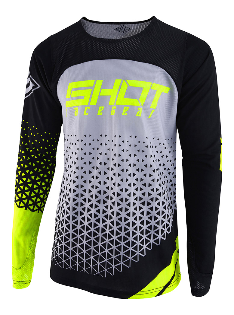 SHOT RACE GEAR 2019 AEROLITE DELTA GRY/NEON YELLOW DRES
