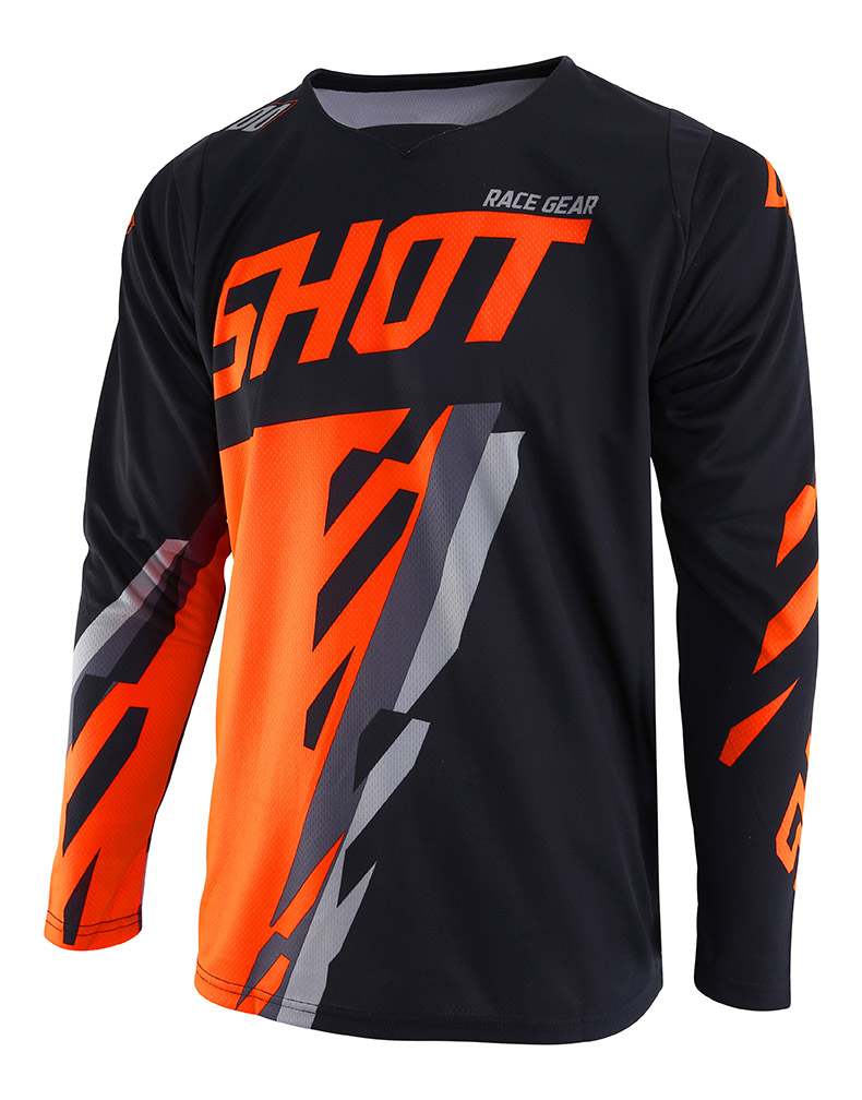 SHOT RACE GEAR 2019 CONTACT SCORE BLK/ORG NEON DRES