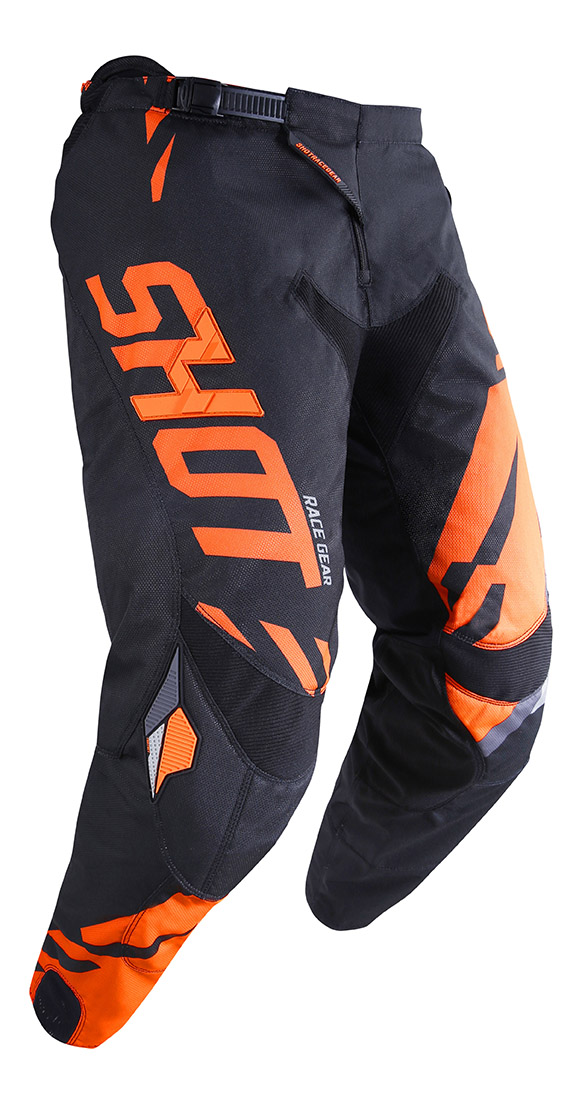 SHOT RACE GEAR 2019 CONTACT SCORE  BLK/NEON ORANGE KALHOTY
