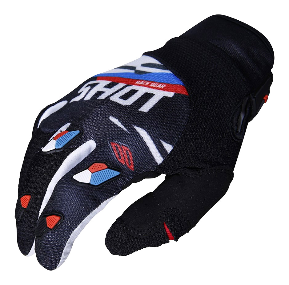 SHOT RACE GEAR 2019 CONTACT SCORE BLK/BLUE/RED RUKAVICE