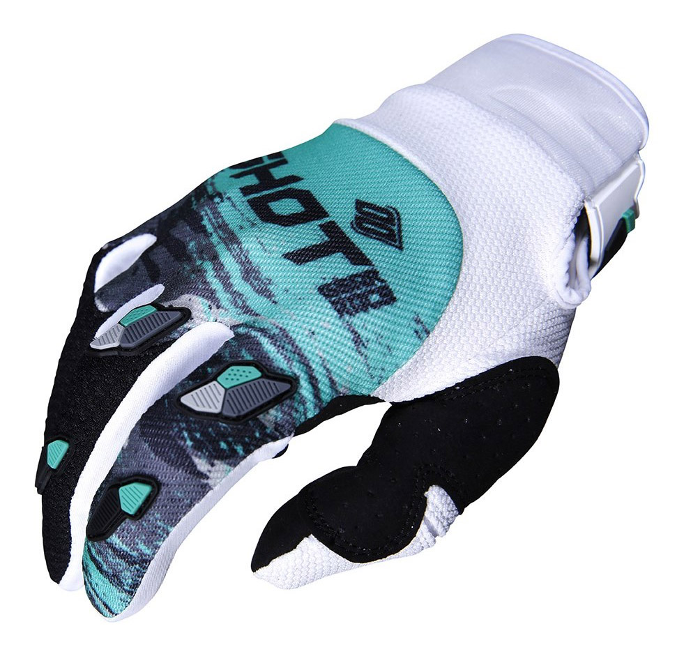 SHOT RACE GEAR 2019 CONTACT COUNTER  WHT/GREEN RUKAVICE