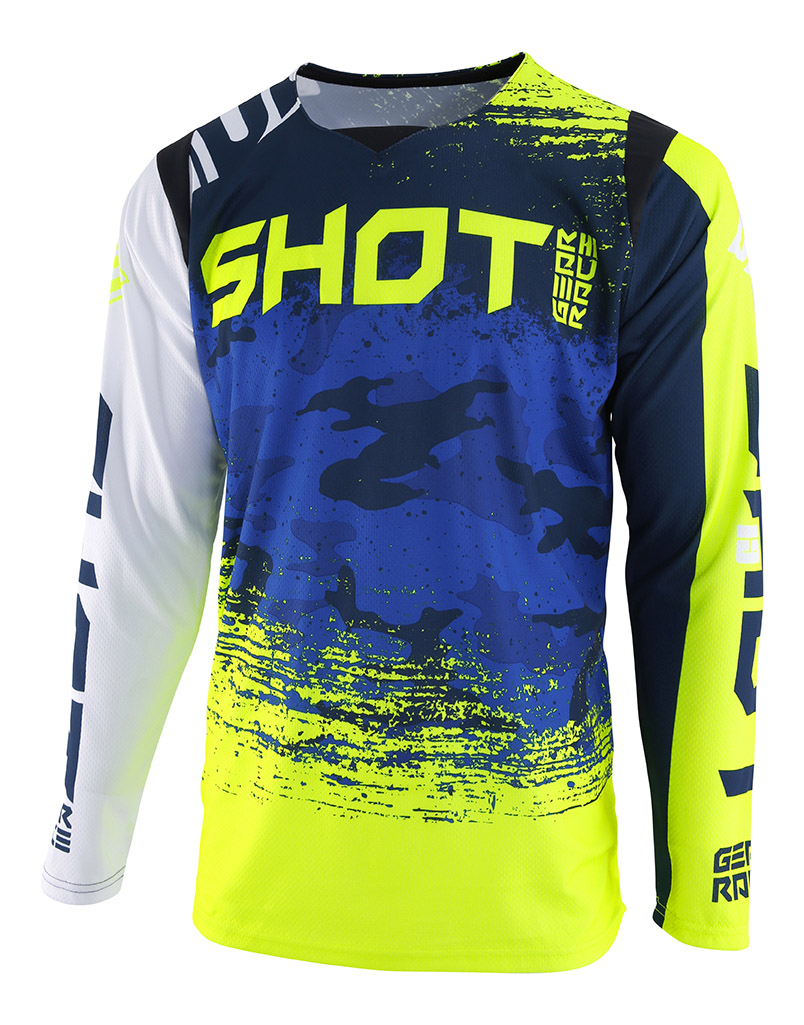 SHOT RACE GEAR 2019 CONTACT COUNTER DRES BLUE/NEON YELLOW