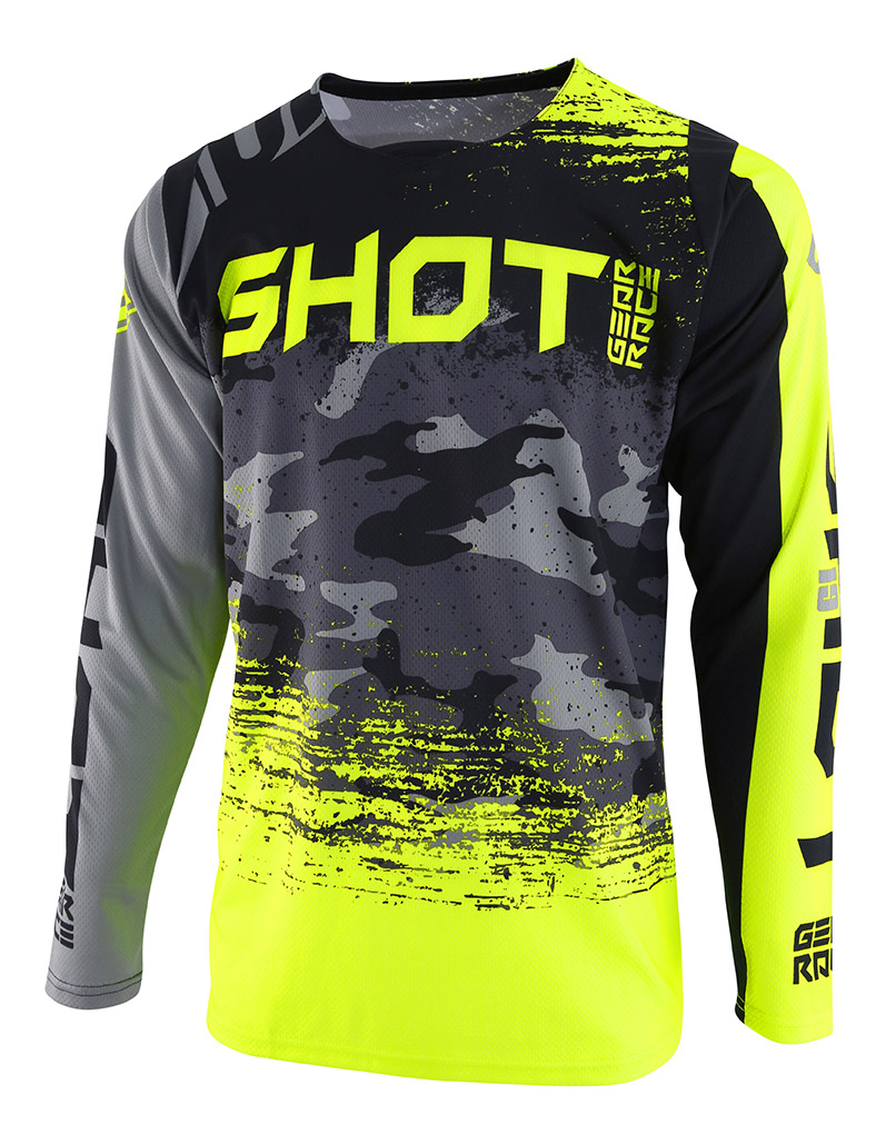 SHOT RACE GEAR 2019 CONTACT COUNTER DRES GREY/NEON YELLOW