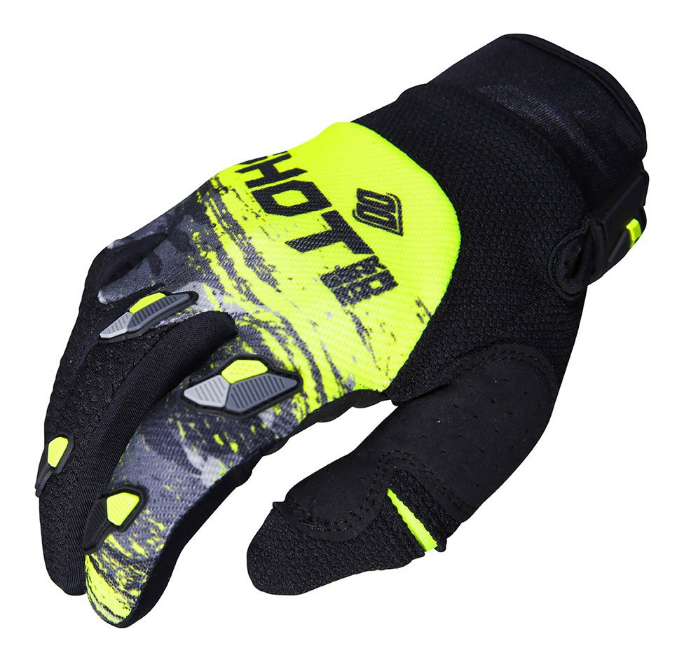 SHOT RACE GEAR 2019 CONTACT COUNTER RUKAVICE GREY/NEON YELLOW