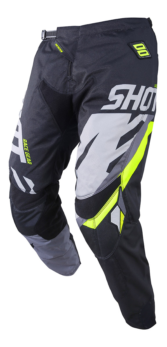 SHOT RACE GEAR 2019 CONTACT SCORE  KALHOTY BLK/GREY/NEON YELLOW