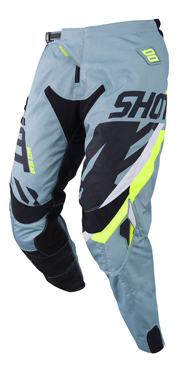 SHOT RACE GEAR 2019 CONTACT SCORE  KALHOTY KAKI/NEON YELLOW
