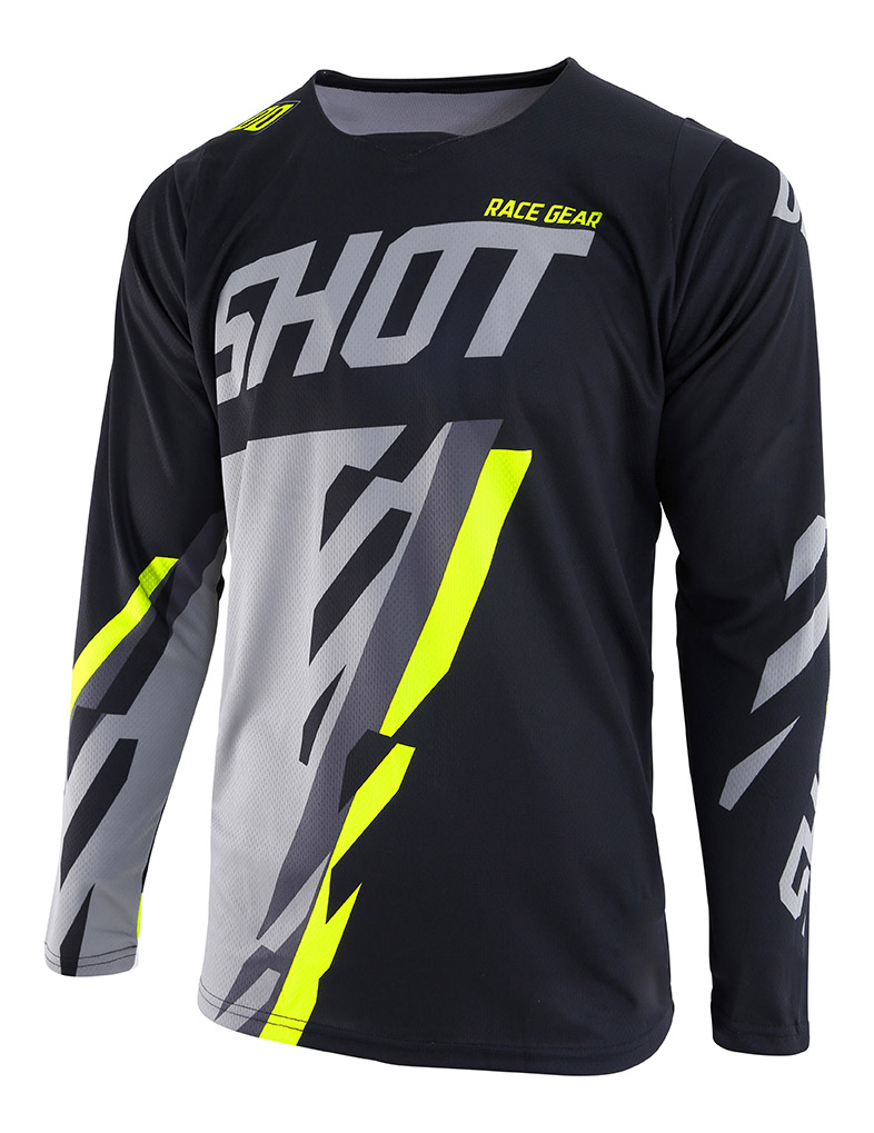 SHOT RACE GEAR 2019 CONTACT SCORE DRES BLK/GREY/NEON YELLOW