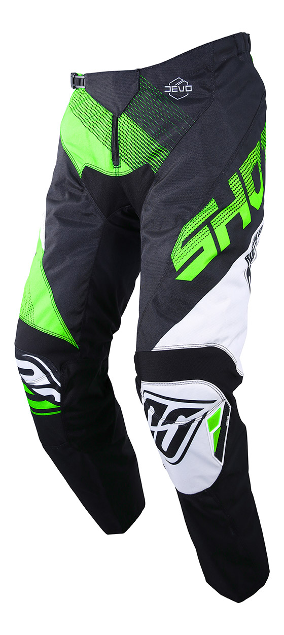 SHOT RACE GEAR 2019 DEVO ULTIMATE KALHOTY BLACK/NEON GREEN