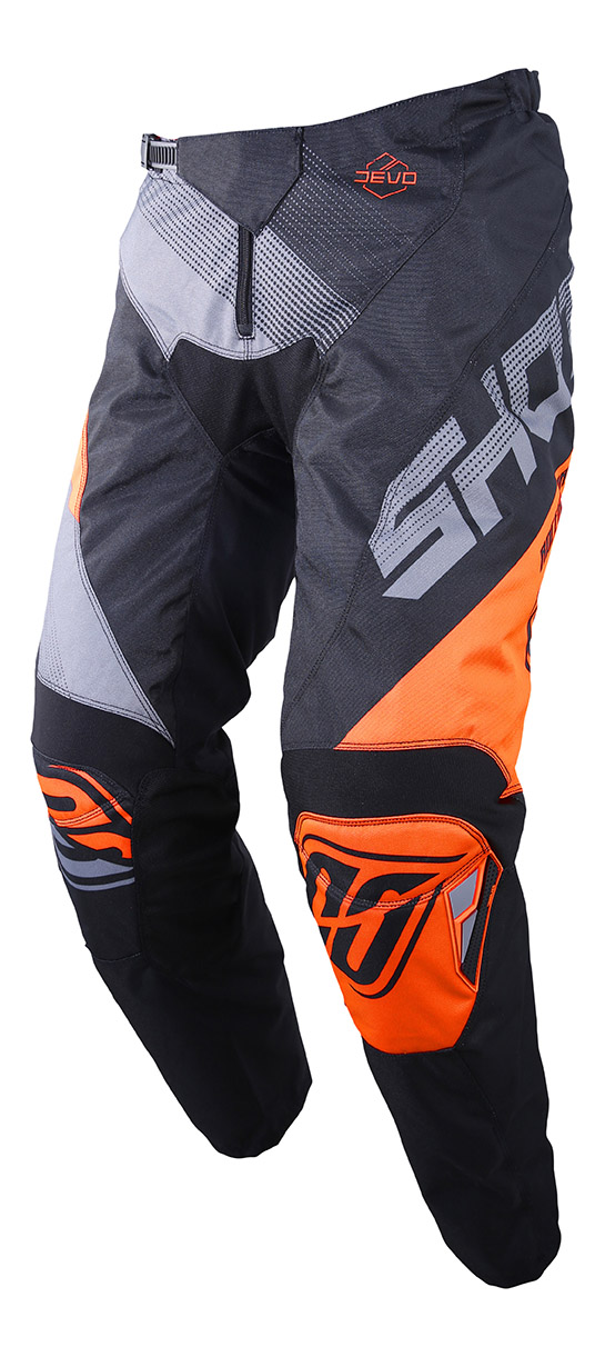 SHOT RACE GEAR 2019 DEVO ULTIMATE KALHOTY BLACK/NEON ORANGE
