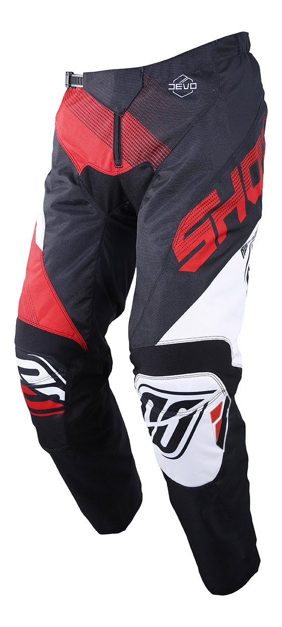 SHOT RACE GEAR 2019 DEVO ULTIMATE KALHOTY BLACK/RED