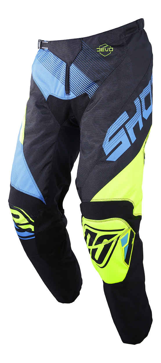 SHOT RACE GEAR 2019 DEVO ULTIMATE KALHOTY BLUE/NEON YELLOW