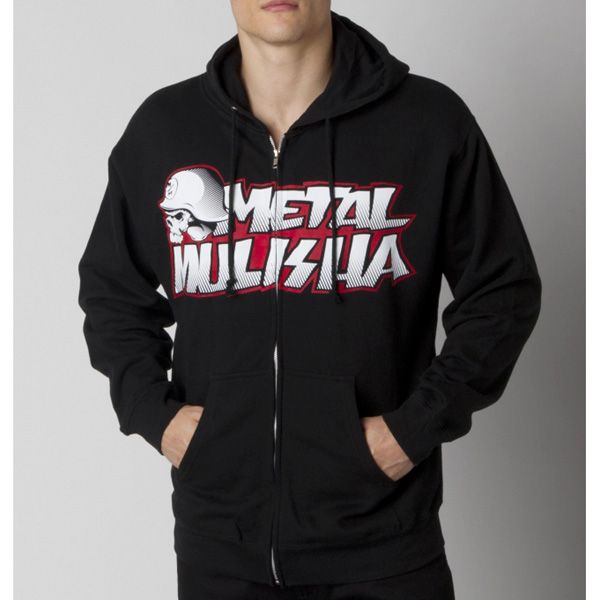 METAL MULISHA NEW PAINT ZIP MIKINA - BLK