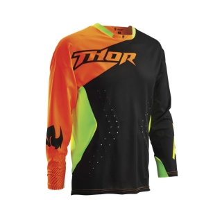 2016 THOR JERSEY, CORE AIR DIVIDE, BLACK/FLUORESCENT DRES