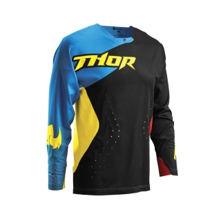 2016 	THOR JERSEY, CORE AIR DIVIDE, BLACK/MULTI DRES